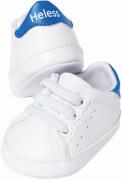 Weiße Puppen-Sneakers, Gr. 38-45 cm