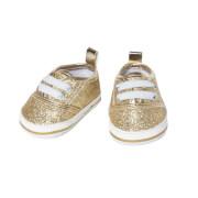Puppen-Glitzer-Sneakers, gold, Gr. 30-34 cm