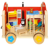 GoKi Puppenbauwagen mit Zubehör
