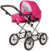 BRIO 63891314 Puppenwagen Combi, Rose