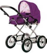 BRIO 63891398 Puppenwagen Premium Combi, violett