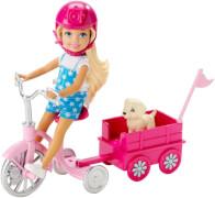 Mattel Barbie Chelsea Dreirad mit Hündchenwagen