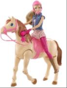 Mattel Barbie Reitpferd und Barbie Puppe