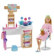 Mattel GJR84 Barbie Wellness Gesichtsmasken Spielset und Puppe (blond)