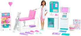 Mattel GTN61 Barbie ''Gute Besserung'' Krankenstation Spielset mit Puppe