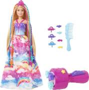 Mattel GTG00 Barbie Dreamtopia Prinzessin Puppe inkl. Regenbogen-Haar-Set, Anziehpuppe