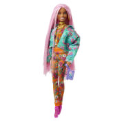 Mattel GXF09 Barbie Extra mit pinken Flechtzöpfen