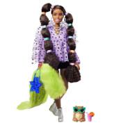 Mattel GXF10 Barbie Extra Puppe mit Zöpfen und Bobble Haargummies