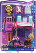 Mattel GYG40 Barbie Big City, Big Dreams Brooklyn Aufnahmestudio Spielset mit Puppe