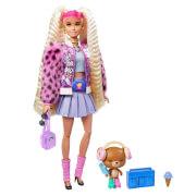 Mattel GYJ77 Barbie Extra Puppe mit blonden Zöpfen