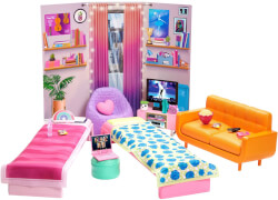 Mattel HDY77 Barbie Big City Big Dreams Schlafsaal Spielset