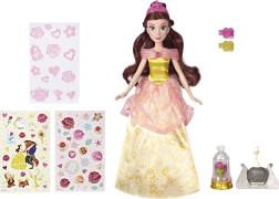 Hasbro E5599EU4 Disney Prinzessin Die schöne Glitzerprinzessin Belle mit Kleid