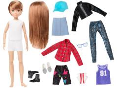 Mattel GGG53 Creatable World Deluxe Charakter Set, individuell gestaltbare Puppe mit rotblonden, glatten Haaren