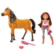 Mattel GXF95 Spirit Reitabenteuer Set mit laufendem Spirit Pferd & Lucky Puppe
