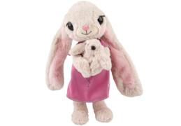 Depesche 8848 House of Mouse Bunny Mama mit  Babybauch Plüsch, 35cm