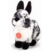 Teddy Hermann Hase sitzend, schwarz-weiß gescheckt, 22 cm