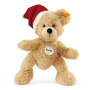 Steiff Teddybär Fynn, beige mit Weihnachtsmütze, 24 cm