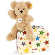 Steiff Teddybär Fynn, beige im Koffer, 23 cm