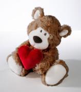 Bär braun mit Herz, 30cm