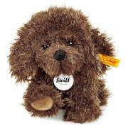Steiff Timmy Hündchen, braun, sitzend, 17 cm