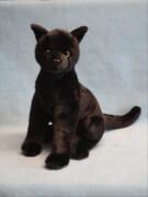 EBO Katze sitzend schwarz, ca. 33 cm