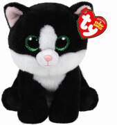 TY AVA BLACK/WHITE CAT BEANIE BABIES