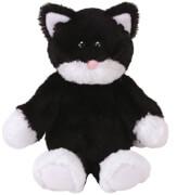 TY Bessie,Katze schwarz/weiss 20cm