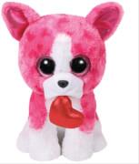 Romeo,Hund pink m. Herz 24cm