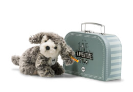 Steiff Matty Hund, grau/beige, sitzend, 18 cm