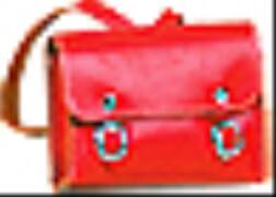 Schildkröt Schulranzen Leder, rot