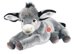 Teddy Hermann Esel liegend, 50 cm