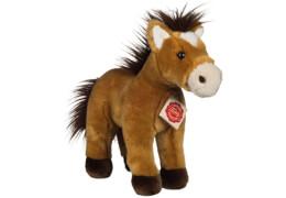 Teddy Hermann Pferd stehend, gold, 25 cm