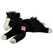 Teddy Hermann Pferd liegend, schwarz, 53 cm