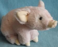 Schwein, sitzend, 18cm
