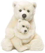 WWF Eisbärmama m. Baby, ca. 28cm