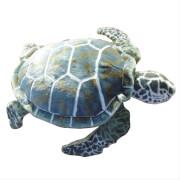 Meeresschildkröte grün-beige, ca. 76 cm