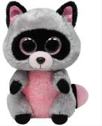 Ty Rocco-Waschbär pink / grau, ca. 15 cm