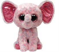 TY Ellie - Elefant pink gepunktet,15cm