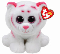 TY TABOR PINK/WHITE TIGER BEANIE BABIES