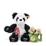 Steiff Teddybär Lin Panda Weltenbummler, weiß/schwarz, 34 cm