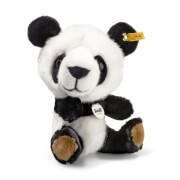 Steiff Tom Panda, weiß/schwarz, sitzend, 22 cm