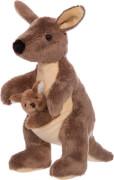 Känguru mit Jungem, 22cm, braun/beige