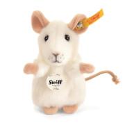 Steiff Pilla Maus, weiß, aufwarten, 10 cm