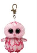 Ty Clip - Glubschi's Beanie Boo's - Schleiereule Pinky mit Glitzeraugen - pink