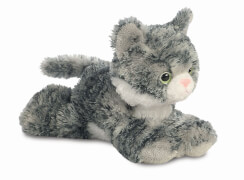 Mini Flopsies - Lily Grey Tabby Cat 8In