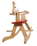 roba Schaukelpferd aus Massivholz, mit rotem Sitz