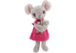 Depesche 8878 Mama Maus mit Babybauch, Plüsch, 35 cm