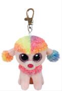 TY Key Clip Pudel Rainbow (Beanie Boo's), Plüsch, ca. 5x3x8 cm