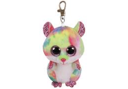 TY Key Clip Hamster Rodney (Beanie Boo's), Plüsch, ca. 5x5x9 cm