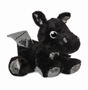 Sparkle Tales Onyx Black Dragon 12In